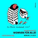 Poster zur Mietendemo - Illustration Miriam Bauer