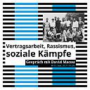 Poster Vertragsarbeit, Rassismus, soziale Kämpfe